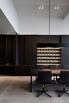 Slick Black Boardroom