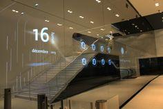 Moving Design _ mur digital miroir intégré