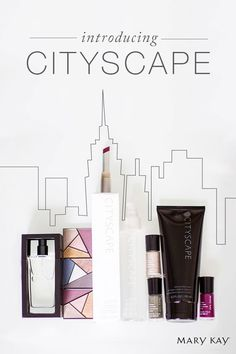 Brand new. Limited-edition†. Extra special. Browse the brand new Cityscape bath products and City Modern makeup collection!   Mary Kay