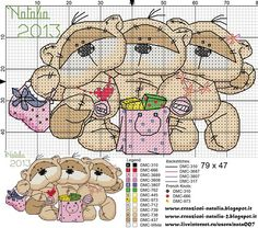 "Photo from album ""Schemi - Natalia/ Схемы - Natalia"" on Yandex. Cross Stitch Needles, Cute Cross Stitch, Cross Stitch Animals, Cross Stitch Charts, Cross Stitch Patterns, Cross Stitching, Cross Stitch Embroidery, Embroidery Patterns, Hand Embroidery"