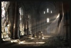 Dawn on the Ancient Hall by Raphael-Lacoste