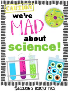 Ladybug's Teacher Files: We're Mad About Science sign {printable} Science Room, Science Party, Mad Science, Science Lessons, Teaching Science, Science Education, Science For Kids, Science Activities, Science Experiments