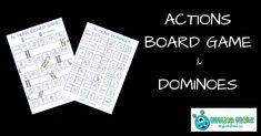 English Freak | Blog o nauczaniu języków obcych: ACTIONS BOARD GAME AND DOMINOES (PRINTABLES)