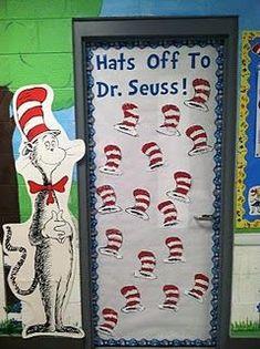 Read Across America Dr. Seuss Reading and Literacy Door Bulletin Board Idea Read Across America Dr. Seuss Reading and Literacy Door Bulletin Board Idea Dr. Seuss, Dr Seuss Week, Classroom Door, Classroom Themes, Infant Classroom, Classroom Crafts, Future Classroom, Dr Seuss Bulletin Board, Dr Seuss Crafts