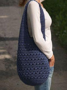 Crochet Bag Crochet Bag … ala mesh … blue More – Crotchet Bags, Bag Crochet, Crochet Market Bag, Crochet Shell Stitch, Crochet Diy, Crochet Handbags, Crochet Purses, Knitted Bags, Love Crochet
