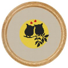 Cross Stitch Pattern PDF owls DD0011 от HappyStitches4You на Etsy, $5.00