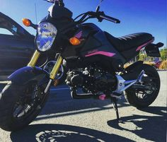Hot Pink Grom Decals! Girl bike, Chicks who ride, motorcycle chick, honda grom, msx125, accessories, cute gear