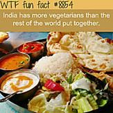 India's vegetarians population - WTF fun facts