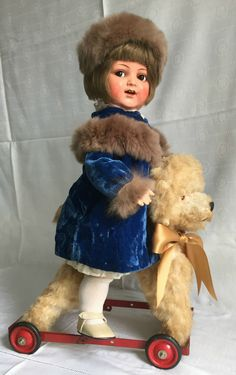 ANTIQUE KAMMER REINHARDT CELLULOID HEAD DOLL FLIRTY EYES ORIGINAL CLOTHES BOX in Dolls & Bears, Dolls, Clothing & Accessories, Antique Dolls | eBay