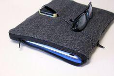 iPad Case iPad Air Sleeve iPad mini Cover  Gray by fernfiddlehead