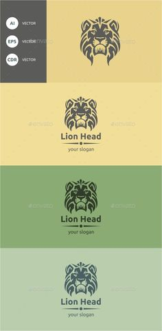 Lion Head Logo Design Template Vector #logotype Download it here: http://graphicriver.net/item/lion-head/9491693?s_rank=1082?ref=nexion