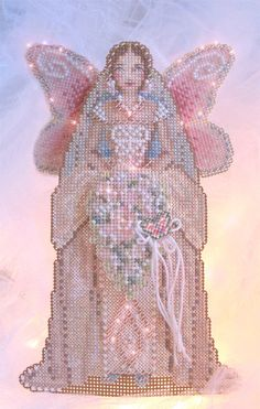 Brooke's Books Spirit of the Bride Angel Ornament Cross Stitch Chart Only