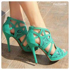 salto alto - heels - estampa de cobra - cores - Ref. 14-15906 - Verão 2015