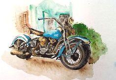 Motorbike Watercolour