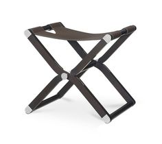 "Stool Hermes stool with leather finishings. L19.4"" x H18.3"" x W17.6"" Ebonized maple and ebony taurillon Clemence.<br />"