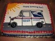 Postal Truck Cake    Mail Carrier