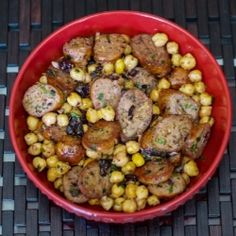 Greek Style Sausage and Chick Peas   Carrie's Experimental Kitchen