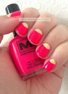 Fierce Makeup and Nails: Twinsie Tuesday: Half Moon Mani