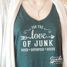 Awesomesauce For the Love of Junk Vintage Ladies V-neck Tee