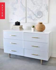 Before & After: Freshening Up a Free Dresser | Apartment Therapy