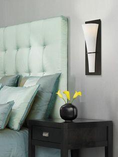 Contemporary bedroom decor.