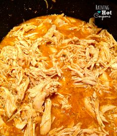 shredded chicken Crock Pot Chicken Tacos Recipe (Super Easy and Yummy!)