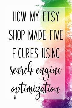 How learning SEO for Etsy increased my revenue by 70 times in less than one year! Search engine optimization is the key for getting found on Etsy. Ecommerce, Starting An Etsy Business, Small Business Organization, Etsy Seo, Business Advice, Online Business, Seo Tips, Craft Business, Sell On Etsy