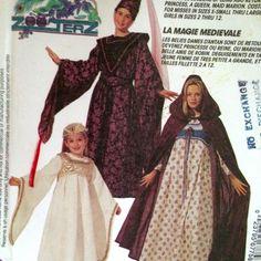 Misses Medieval Costume Halloween Pattern 38-40  Uncut McCalls 6775 Maiden Faire