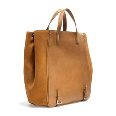 Image 2 of BUCKET BAG WITH BUCKLES from Zara