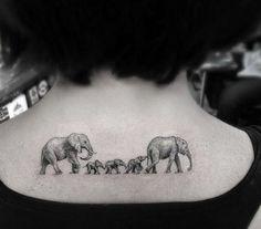 tatuajes unicos elefantes