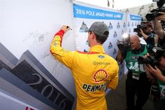 At-track photos: Friday at Martinsville Saturday, April 2, 2016 Joey Logano, driver of the #22 Shell Pennzoil Ford, won the Coors Light Pole Award for the NASCAR Sprint Cup Series STP 500 at Martinsville Speedway on April 1, 2016 in Martinsville, Virginia. Photo Credit: Photo by Sean Gardner/NASCAR via Getty Images