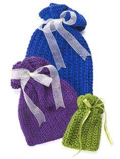 Free knitting patterns for drawstring gift bags