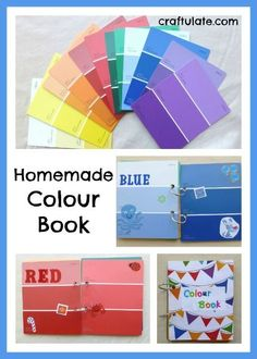 This simple homemade colour book is made from upcycled paint swatches and stickers. It is a great tool for helping children to learn about colours.