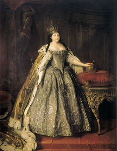 Louis Caravaque, Portrait of Empress Anna Ioannovna (1730) - Wikimedia Commons