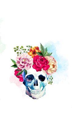Flower skull                                                                                                                                                                                 Más