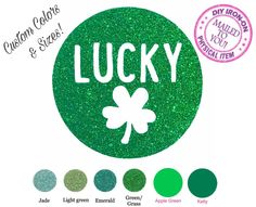 Diy St PATRICKS LUCKY CLOVER Iron On Applique, Shamrock Heat Transfer Vinyl, Logo, Patch, Decal, htv, Toddler, Adult, Child, Clothing, Shirt by wingsnthings13 on Etsy