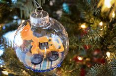 Homemade Christmas Ornament for the kids - #kidcrafts