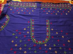 Kids Blouse Designs, Simple Blouse Designs, Bridal Blouse Designs, Blouse Neck Designs, Traditional Blouse Designs, Mirror Work Blouse Design, Kutch Work Designs, Embroidery Works, Embroidery Patterns