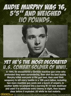 He wanted to join the Marines, but he was too short. The paratroopers wouldn't…