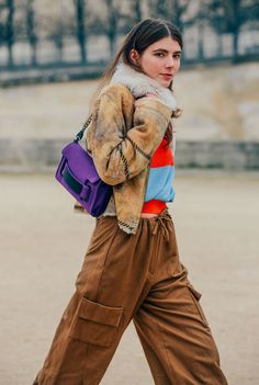 March 1, 2013  Tags Brown, Paris, Ursina Gysi, Fur, Pants, Women, Jackets, Bags, FW13 Women's, Drawstring, Cargo Pants