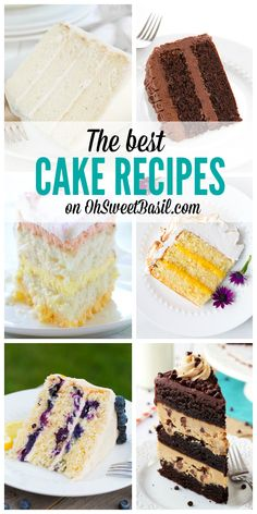 The Best Cake Recipes on Oh Sweet Basil!