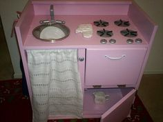 DIY - Pink Play Kitchen - Design Dazzle