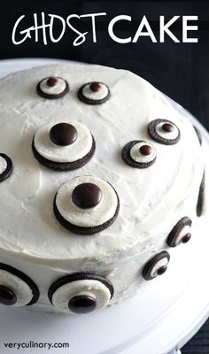 This super easy and fun ghost cake is a treat to make and eat for any Halloween party!