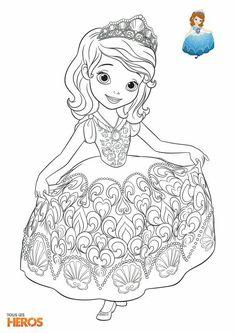 Coloriage De Princesse.56 Meilleures Images Du Tableau Coloriage Princesse Sophia