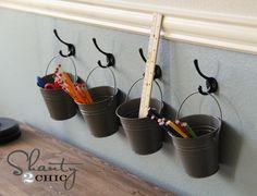 Blog » Supply Buckets on Hooks
