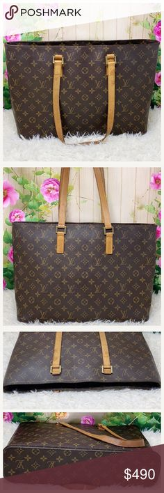 009c62b90c43 Authentic Louis Vuitton Monogram Luco Tote Bag The outer canvas is good.  Inside showed signs