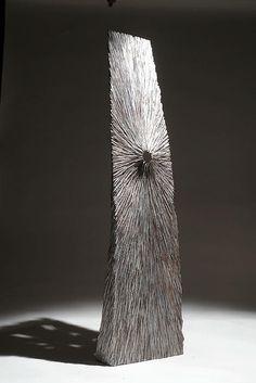 "Christophe Nancey ~ ""Grande Empreinte"" ~ Oak - Wood Sculpture"