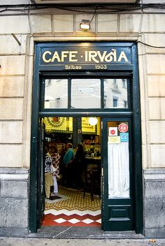 """CAFÉ IRUÑA, Jardines de Albia. It is one of Bilbao's oldest cafés. Ask for  a """"pintxo moruno"""" and you""""ll repeat!"""
