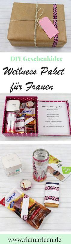 DIY Geschenkidee zum Muttertag, Geburtstag oder als kleine Aufmerksamkeit: Wellness Paket für Frauen. Besuche riamarleen.de für die ausführliche Anleitung.