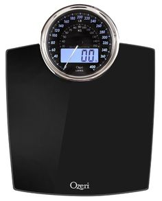 Amazon.com: Ozeri ZB19 Rev Digital Bathroom Scale with Electro-Mechanical Weight Dial, Black: Home & Kitchen